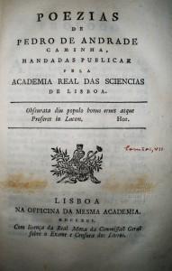 Pedro de Andrade Caminha -Poezias  «€-150.00»