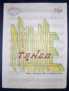 Partitura de Musica«Nadíne» Tango Composto em Manuscrito «€10.00»