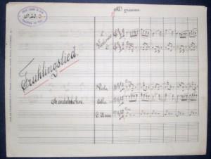 Fruhlingslied de Mendelssohn para quintete de cordasm «€10.00»