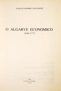 O Algarve Económico 1600-1773 «€30.00»