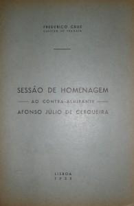Sessão de Homenagem-Ao Contra-Almirante-Afonso Júlio de Cerqueira «€15.00»