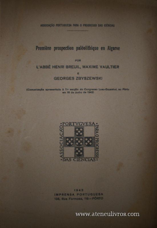 Première Prospection Paléolithique en Algarve «€15.00»