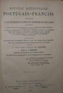 Dicionario Portuguez/Francez «€60.00»