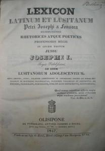 Lexicon Latinum Et Lusitanum «€150.00»