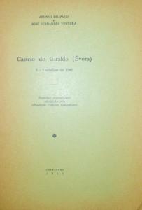 Castelo do Giraldo (Évora) I-Trabalho de 1960 «€10.00»