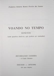 Voando no Tempo(Sonetos) Recordando Coimbra  «€10.00»