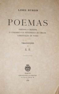 Poemas -Parissina- Mazeppa- O Corsario- O Prisioneiro de Chilon- Lamentação de Tasso «€25.00»