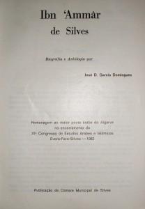 Ibn'Ammar de Silves - Biografia e Antologia - Homenagem ao Maior Poeta Árabe do Algarve «€10.00»