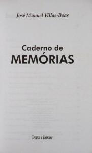 Caderno de Memórias «€10.00»