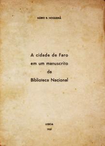 A Cidade de Faro em um Manuscrito da Biblioteca Nacional «€12.50»