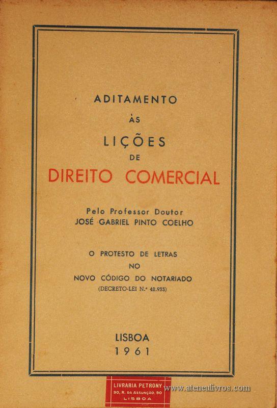 José Gabriel Pinto Coelho – Lições de Direito Comercial - «€5.00»
