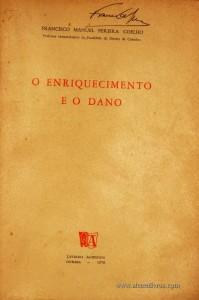 Francisco Manuel Pereira Coelho – O Enriquecimento e o Dano - «€12.50»