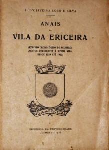 Anais da Vila da Ericeira «€40.00»