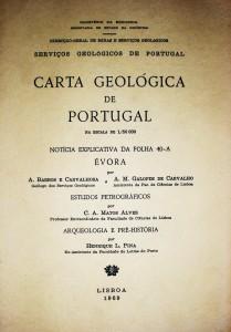 Carta Geológica de Portugal..Notícia Explicativa da Folha 40-A Évora
