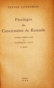 Florilégio do Cancioneiro de Resende «€15.00»