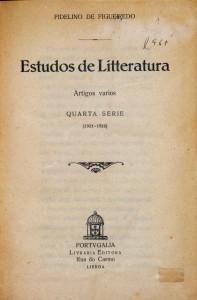 Estudos de Literatura