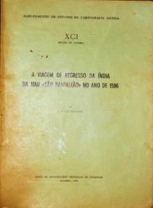 A Viagem de Regresso da Índia na Nau «São Pantaleão» no Ano de 1596