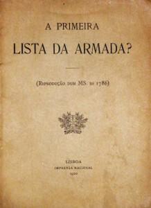 Primeira Lista da Armada?(Reprodução Dum MS. de 1786)