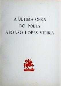 A Última Obra do Poeta Afonso Lopes Vieira