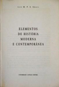 Elementos de História Moderna e Contemporânea