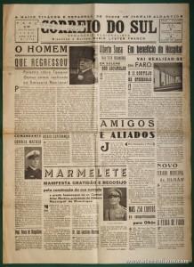 """Jornal """"Correio do Sul"""" n.º 1718 - Outubro de 1950 - Ano - XXXI «€5.00»"""