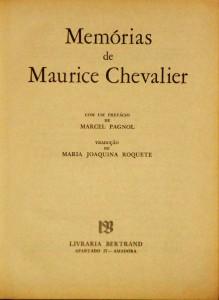 Memórias de Maurice Chevalier