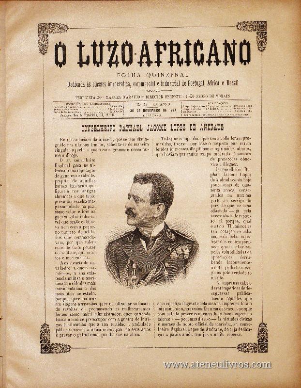 Folheto - O Luzo Africano «€15.00»