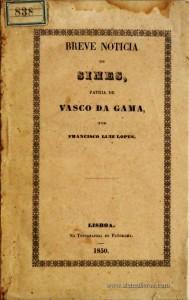 Breve Noticia de Sines, Patria de Vasco da Gama