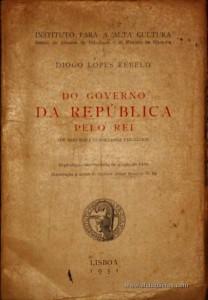 Do Governo da Republica pelo Rei