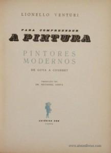 Para Compreender A Pintura «Pintores Modernos»
