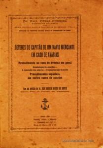 Deveres do Capitão de Um Navio Mercante em Caso de Avarias