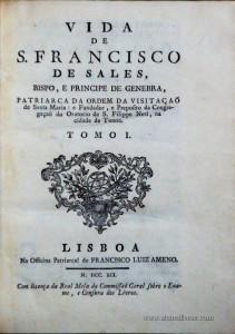 Vida de S.Francisco de Sales