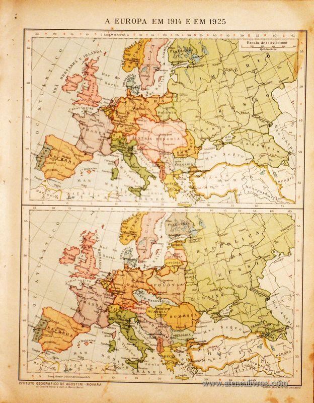 A Europa em 1914 e em 1925 «€5.00»