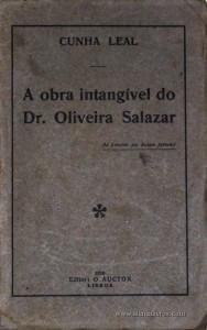 A Obra Intangível do Dr. Oliveira Salazar