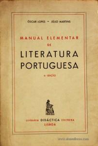 Manual Elementar de Literatura Portuguesa
