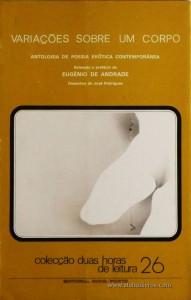 Variações Sobre um Corpo  / Antologia de poesia erótica Contemporânea