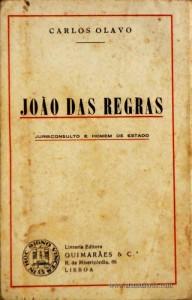 João das Regras - Jurisconsulto e Homem de Estado