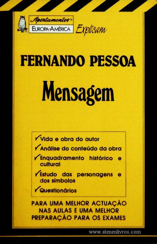 Fernando Pessoa - Mensagem - «€5.00»
