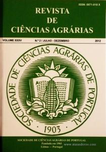 Revista da Sociedade de Ciências Agrárias - Volume XXXV - 2012 – N.º 2 / Julho – Dezembro - Publicação de Ciências Agrárias de Portugal - Lisboa - 2012. Desc. 365 pág. / 24 cm x 17 cm / Br. - «€40.00»