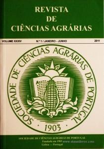 Revista da Sociedade de Ciências Agrárias - Volume XXXIV - 2011 – N.º 1 / Janeiro – Junho - Publicação de Ciências Agrárias de Portugal - Lisboa - 2011. Desc. 247 pág. / 24 cm x 17 cm / Br. - «€40.00»