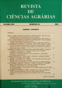 Revista de Ciências Agrárias - Volume XXVII - Nº 2/4 – 2004 -Publicação da Sociedade de Ciências Agrárias de Portugal - Lisboa - 2004. Desc. 268 pág. / 24 cm x 17 cm / Br. - «€20.00»