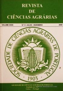 Revista de Ciências Agrárias - Volume XXXII - 2009 – N.º 2 / Julho – Dezembro - Publicação da Sociedade de Ciências Agrárias de Portugal - Lisboa - 2009. Desc. 271 pág. / 24 cm x 17 cm / Br. - «€40.00»