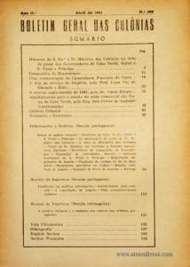 Boletim Geral das Colónias – Ano 17.ª – Abril de 1941 – N.º 190 – Agencia Geral das Colónias – Lisboa – 1941. Desc. 160 pág. / 22,5 cm x 16 cm / Br «€12,50»