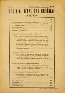 Boletim Geral das Colónias – Ano 13.ª – Junho de 1937 – N.º 144 – Agencia Geral das Colónias – Lisboa – 1937. Desc. 154 pág. / 22,5 cm x 16 cm / Br «€12,50»