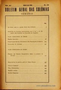 Boletim Geral das Colónias – Ano 16.ª – Abril de 1940 – N.º 178 – Agencia Geral das Colónias – Lisboa – 1940. Desc. 608 pág. / 22,5 cm x 16 cm / Br «€20,00»