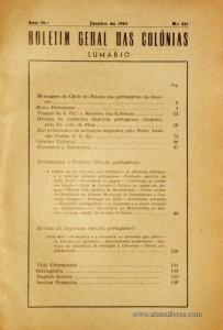 Boletim Geral das Colónias – Ano 19.ª – Janeiro de 1943 – N.º211 – Agencia Geral das Colónias – Lisboa – 1943. Desc. 159 pág. / 22,5 cm x 16 cm / Br «€12,50»