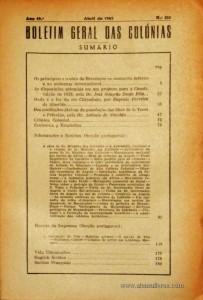 Boletim Geral das Colónias – Ano 19.ª – Abril de 1943 – N.º214 – Agencia Geral das Colónias – Lisboa – 1943. Desc. 181 pág. / 22,5 cm x 16 cm / Br «€12,50»