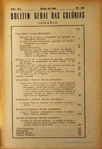 Boletim Geral das Colónias – Ano 16.ª – Junho de 1940 – N.º180 – Agencia Geral das Colónias – Lisboa – 1940. Desc. 154 pág. / 22,5 cm x 16 cm / Br «€12,50»