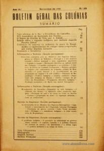 Boletim Geral das Colónias – Ano 11.ª – Novembro de 1935 – N.º125 – Agencia Geral das Colónias – Lisboa – 1935. Desc. 213 pág. / 22,5 cm x 16 cm / Br «€12,50»