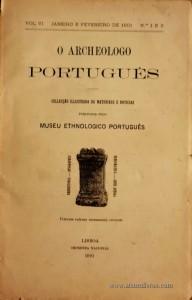 O Archeologo Português «€100.00»